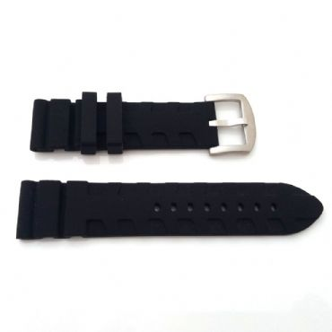 For PANERAI Silicone Watch Strap 24mm Lug 22mm Buckle MENS band
